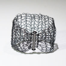Load image into Gallery viewer, Hand-Crocheted Wire Bracelet with Slide-Lock Clasp