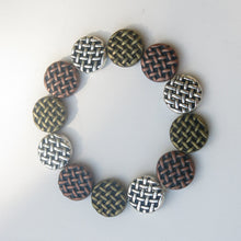 Load image into Gallery viewer, Stretchy Bracelet with Pewter Beads in 3 Colors
