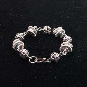 Orbit Bracelet with Pewter Beads