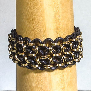 Japanese 8-in-4 Chain Maille Bracelet, with Rubber O-Rings: Zoom Class, Handout & Recording, Saturday, 1/16/21, 11am-12:30pm.