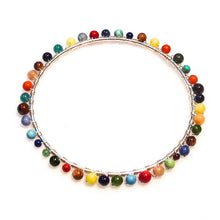 Load image into Gallery viewer, Bangle Bracelet Hand-Wrapped with Gemstones