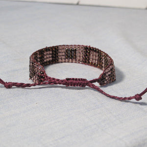 Bead-Woven Bracelet with Adjustable Clasp #2
