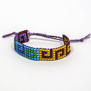 Bead-Woven Bracelet with Adjustable Clasp #3