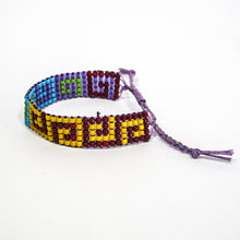 Load image into Gallery viewer, Bead-Woven Bracelet with Adjustable Clasp #3