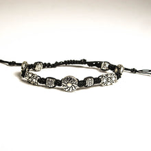 Load image into Gallery viewer, Macrame Bracelet with Graduated, Detailed Pewter Beads