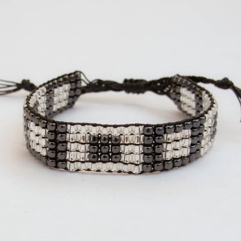 Bead-Woven Bracelet with Adjustable Clasp #4