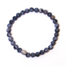 Load image into Gallery viewer, Gemstone Stretchy Bracelet - Blue Labradorite