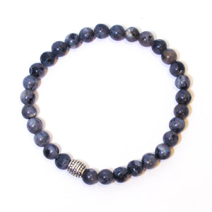 Gemstone Stretchy Bracelet - Blue Labradorite