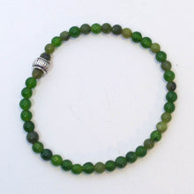 Load image into Gallery viewer, Gemstone Stretchy Bracelet - Malay Jade