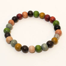 Load image into Gallery viewer, Stretchy Bracelet with Multicolor Wooden Beads