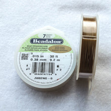 Load image into Gallery viewer, Satin Gold Beadalon Beading Wire