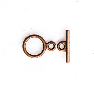 Basic Toggle Clasp, 12mm. (click for colors)