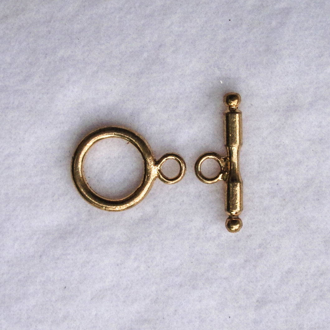 Large Gold-Plated Toggle Clasp, 17mm.
