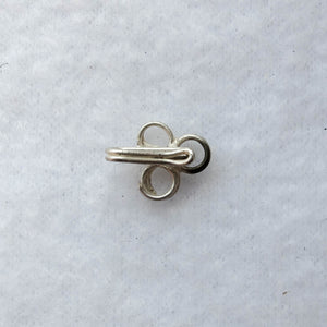 Hook Clasp with Triple Loops, 21mm. long, Silver