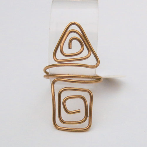 Square/Triangle Adjustable Wire Ring