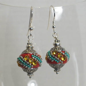 Exotic Bead Earrings (click for colors)