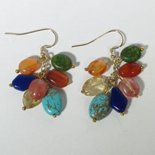 Load image into Gallery viewer, Gemstone Dangle Earrings/Mixed Gemstones