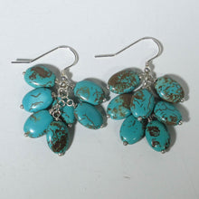 Load image into Gallery viewer, Gemstone Dangle Earrings/Turquoise Magnesite