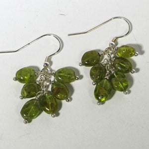 Gemstone Dangle Earrings/Peridot