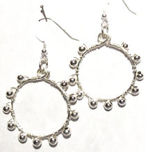 Load image into Gallery viewer, Hoop Earrings, Full, Wrapped with Matching Metal Beads