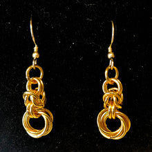 Load image into Gallery viewer, Byzantine Chain and Mobius Rings Earrings