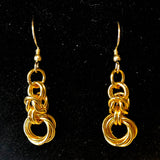 Byzantine Chain and Mobius Rings Earrings