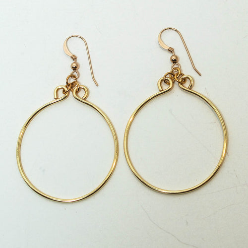 Hand-Shaped, Simple Hoop Earrings (click for colors & sizes)