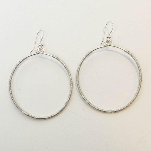 Hoop Earrings, Hand-Shaped & Wrapped with Wire, Extra Large