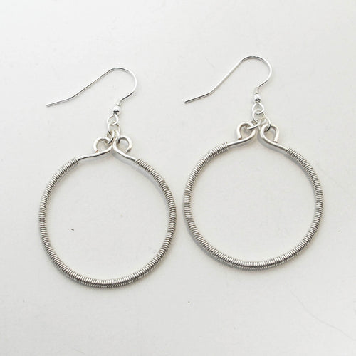 Hoop Earrings Wrapped with Wire, Large