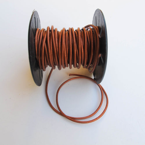 Round Leather Cord, 2mm. (click for colors)