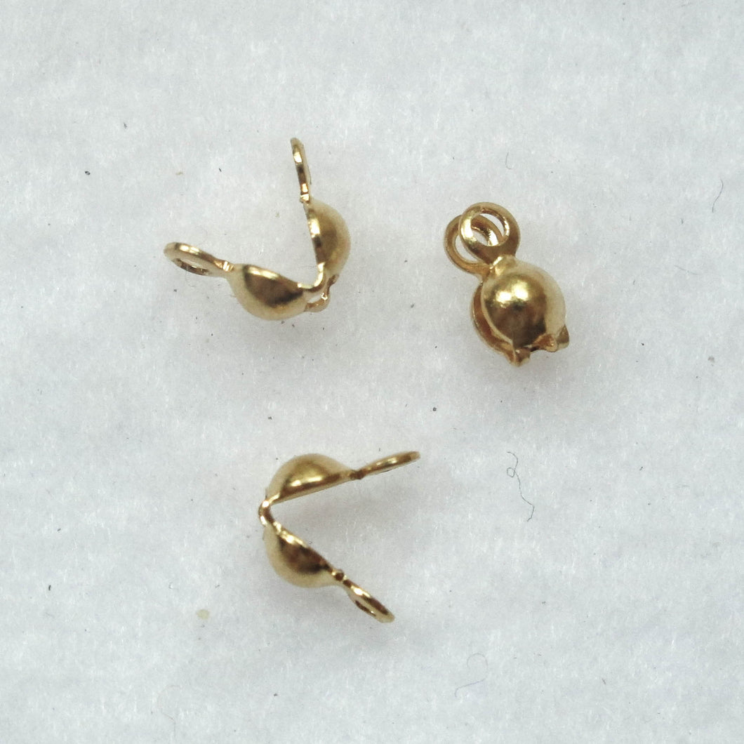 Clamshell Bead Tips with Two Loops (click for colors)