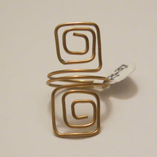 Load image into Gallery viewer, Double Squares Adjustable Wire Ring