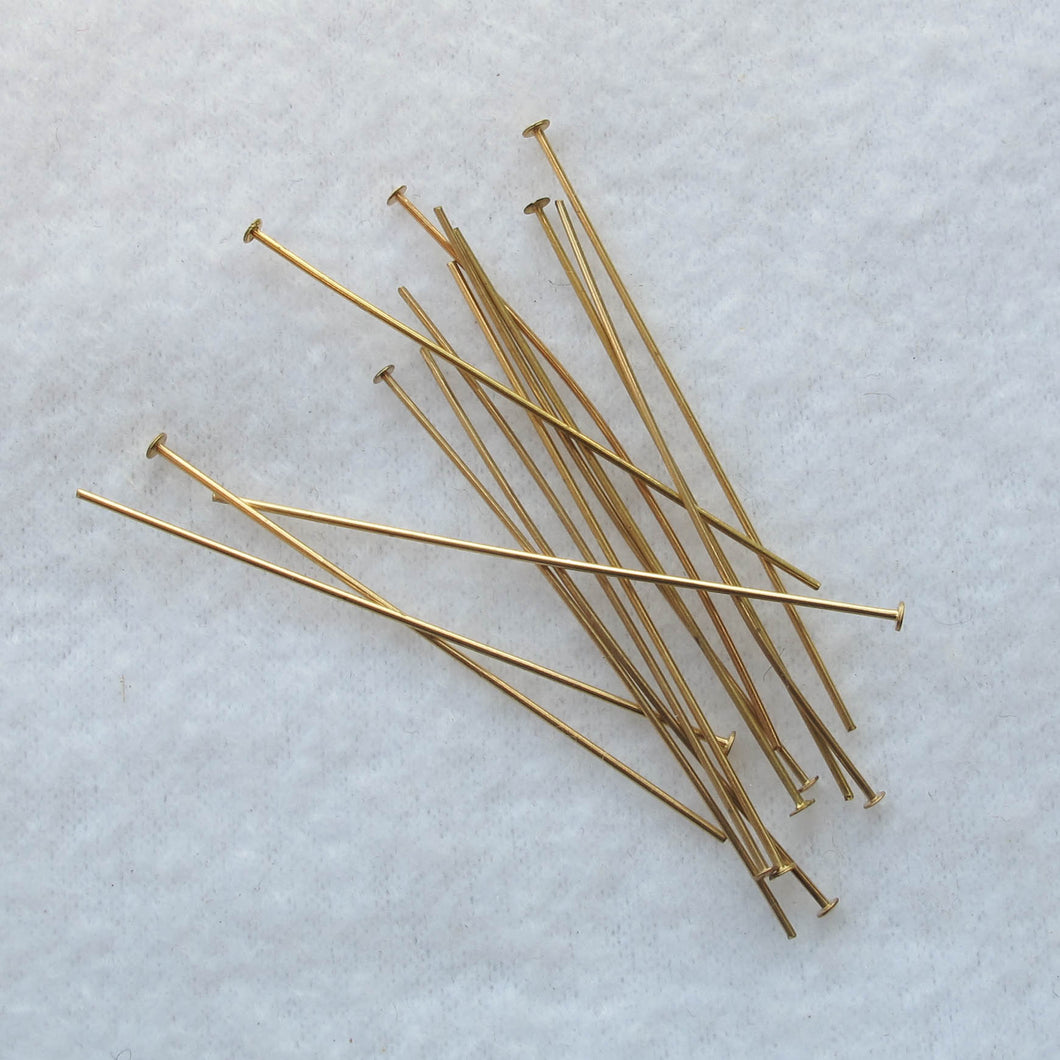 Gold-Plated Head Pins with Black Heads