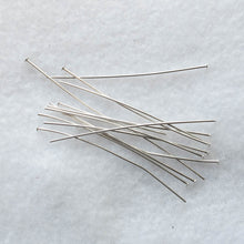 Load image into Gallery viewer, Silver-Plated Head Pins with Flat Heads