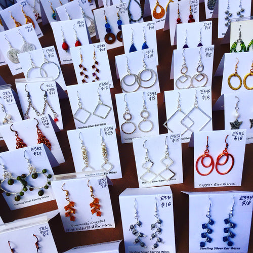 Earrings 101 & Wire Looping for Necklaces or Bracelets: Zoom Class, Recording & Handout, Saturday, 2/13/21, 11am-12:30pm.