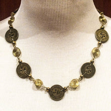 Load image into Gallery viewer, Santa Monica Bus Token Necklace with Wire Spirals