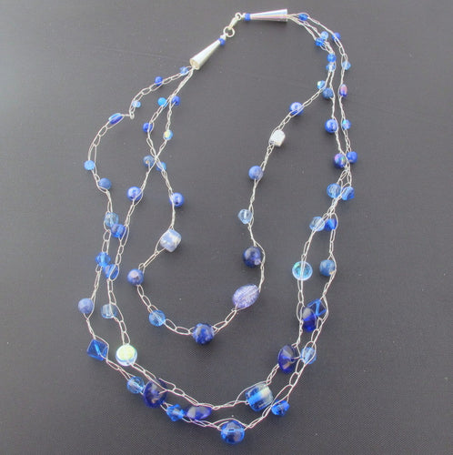 Multi-Strand, Crocheted Wire or Cord Necklace with Cones: Zoom Class, Handout & Recording, Saturday, 1/30/21, 11am-12:30pm.