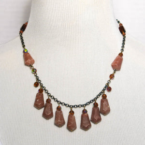 Seven-Arrows Gemstone Necklace