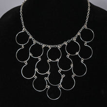 Load image into Gallery viewer, 15-Loop, Hand-Shaped Wire Loop Necklace