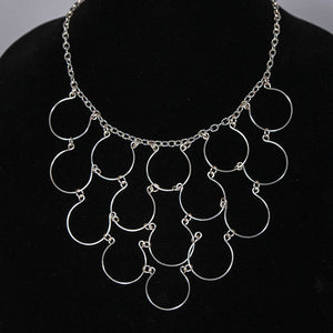 15-Loop, Hand-Shaped Wire Loop Necklace