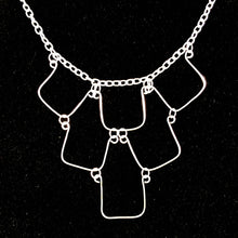 Load image into Gallery viewer, 6-Square, Hand-Shaped Squares Necklace
