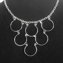 Load image into Gallery viewer, 6-Loop, Hand-Shaped Wire Loop Necklace