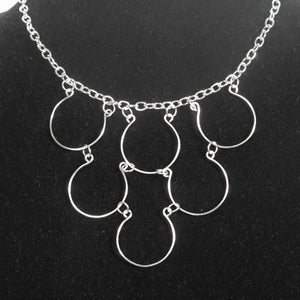 6-Loop, Hand-Shaped Wire Loop Necklace