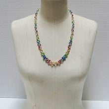Load image into Gallery viewer, Rainbow Chain Maille Necklace with Glass Seed Beads