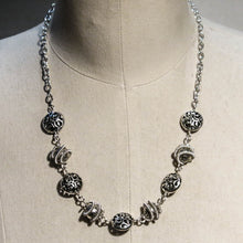 Load image into Gallery viewer, Orbit Necklace with Spiral-Wrapped Pewter Beads
