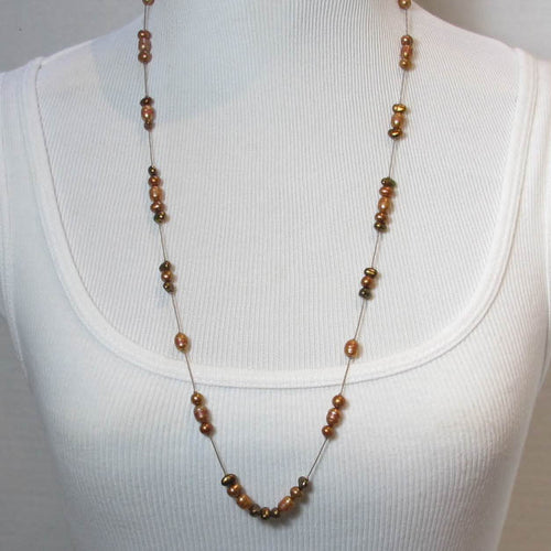 Copper-Colored, Freshwater Pearl Necklace