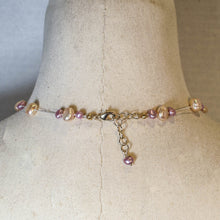 Load image into Gallery viewer, Floating Design Pink & Peach Freshwater Pearl Necklace