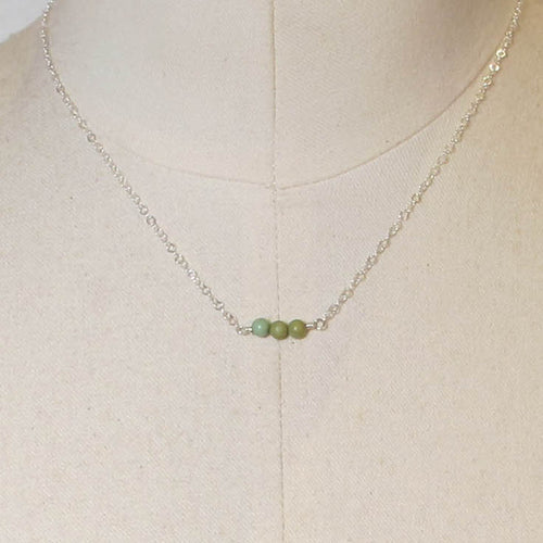 Tiny Gemstone Necklace - Chrysocolla