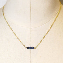 Load image into Gallery viewer, Tiny Gemstone Necklace - Lapis Lazuli