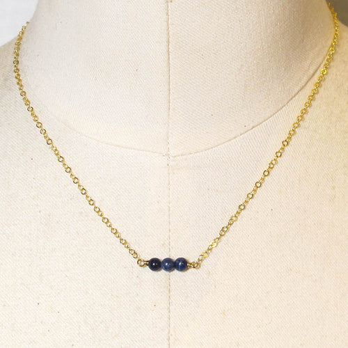 Tiny Gemstone Necklace - Lapis Lazuli